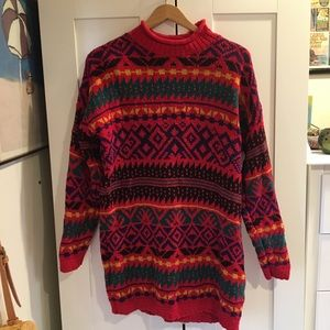Vintage Funky Red Knit Sweater